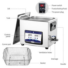 2.85 Gallon Ultrasonic Cleaning Mchine For Filter Element With 200w Heating Power